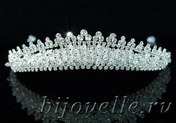 """Диадема """"Королевская"""" с кристаллами Swarovski (Сваровски) - фото 4984"""
