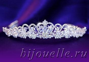 """Диадема """"Елизавета"""" с кристаллами Swarovski (Сваровски) - фото 4985"""