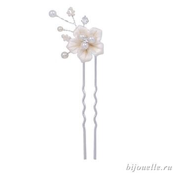 """Шпильки для волос """"Цветы айвори""""  из керамики - фото 5024"""
