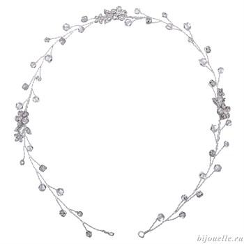 Свадебное украшение для волос на проволоке с кристаллами Сваровски - фото 5040