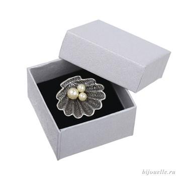 Подарочный футляр под кольцо или серьги (5*5см) - фото 5080
