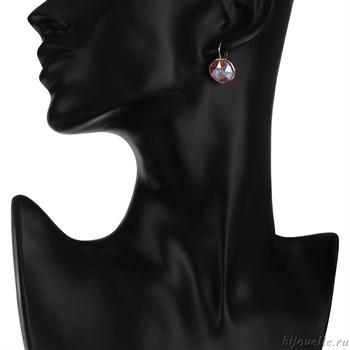 """Серьги с кристаллами Сваровски """"Звездное небо"""" - фото 5175"""