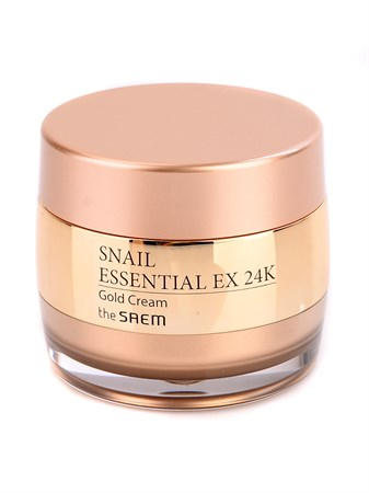 СМ Snail Крем для лица улиточный с золотом Snail Essential EX 24K Gold Cream 50мл - фото 5515