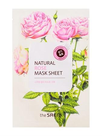 СМ Маска тканевая с экстрактом розы Natural Rose Mask Sheet 21мл - фото 5530