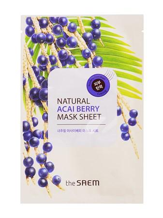 СМ Маска тканевая с экстрактом ягод асаи Natural Acai Berry Mask Sheet 21мл - фото 5532