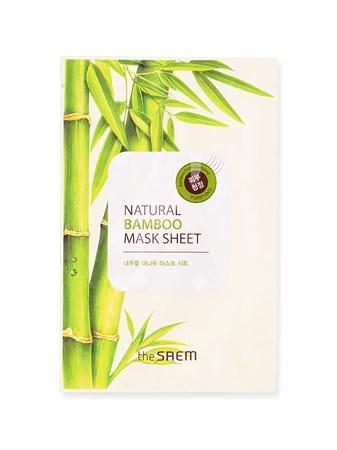 СМ Маска тканевая с экстрактом бамбука (NEW)Natural Bamboo Mask Sheet 21мл - фото 5633