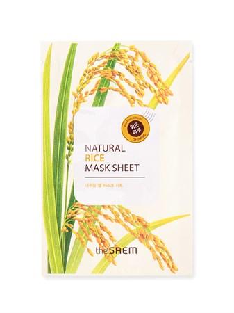 СМ Маска тканевая с экстрактом риса (NEW)Natural Rice Mask Sheet 21мл - фото 5635