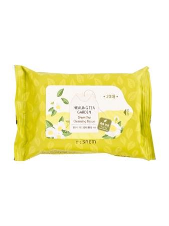 СМ Garden Салфетки очищающие с экстрактом зеленого чая Healing Tea Garden Green Tea Cleansing Tissue 20шт - фото 5664