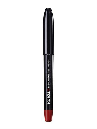 СМ LIP Тинт-маркер для губ 02 Eco Soul Henna Marker Tint 02 Lettering Red 1,2мл - фото 5691