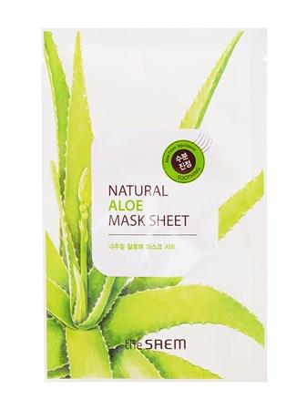 СМ Маска тканевая с экстрактом алоэ вера Natural Aloe Mask Sheet 21мл - фото 5702