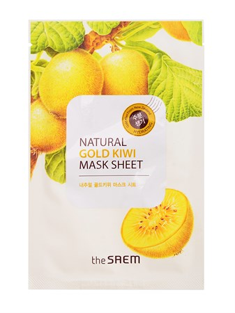 СМ Маска тканевая с экстрактом киви Natural Gold Kiwi Mask Sheet 21мл - фото 5706