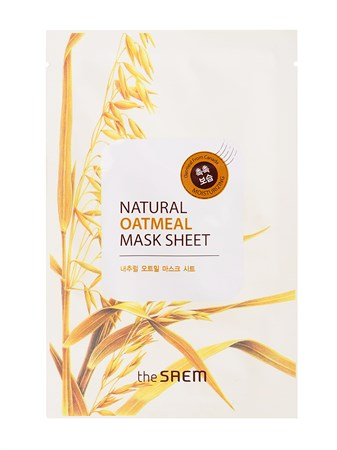 СМ Маска тканевая с экстрактом овсянки Natural Oatmeal Mask Sheet 21мл - фото 5710
