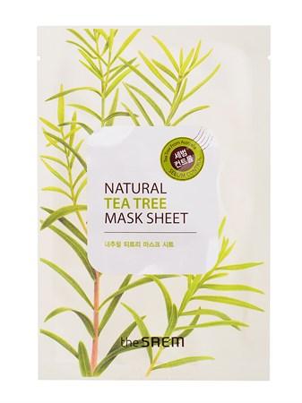 СМ Маска тканевая с экстрактом чайного дерева Natural Tea Tree Mask Sheet 21мл - фото 5714