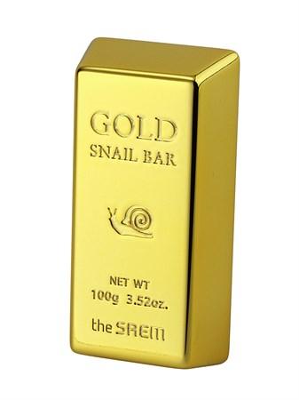 СМ Snail Мыло для умывания с экстрактом золота, муцина улитки, оливы 100г Gold Snail Bar 100гр - фото 5734