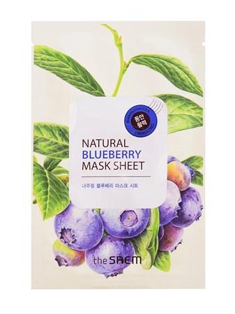 СМ Маска тканевая с экстрактом черники Natural Blueberry Mask Sheet 21мл - фото 5737