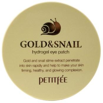 ПТФ Патчи для глаз гидрогелевые с золотом и экстрактом улитки PETITFEE Gold & Snail Eye Patch - фото 5811