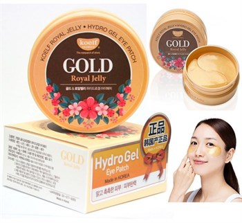 ПТФ Патчи для глаз гидрогелевые с маточным молочком Koelf Gold & Royal Jelly Eye Patch  1,4гр*60 - фото 5815
