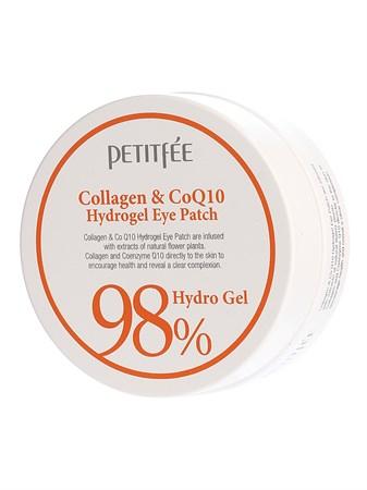 ПТФ Патчи для глаз с коэнзимом Petitfee Collagen & CoQ10 Hydrogel Eye Patch 1,4гр*60 - фото 5816