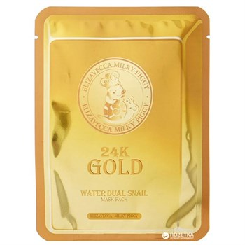 ЕЛЗ 24k Gold Маска для лица улиточная 24k Gold Water Dual Snail mask pack 25гр - фото 5820