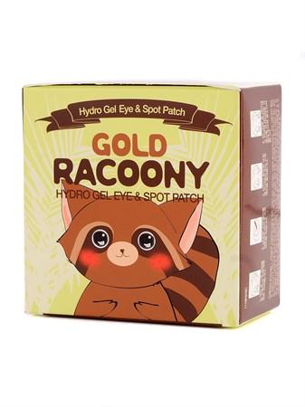 СК Racoony Патчи для глаз гидрогелевые Gold Racoony Hydrogel Eye & Spot Patch 60шт - фото 5898