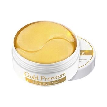 СК Gold Premium Патчи для глаз с золотом Gold Premium First Eye Patch 60шт - фото 5901