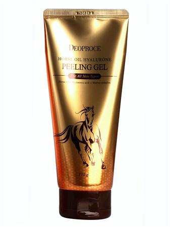 ДП Horse Гель-скатка с гиалуроновой кислотой и лошадиным жиром Deoproce Horse Oil Hyalurone Peeling Gel 170гр - фото 5935