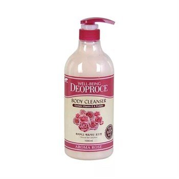 ДП BODY Гель для душа Роза WELL-BEING DEOPROCE AROMA BODY CLEANSER 1000ml ROSE - фото 5973
