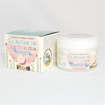 ЕЛЗ Milky Piggy Крем для лица осветляющий Real Whitening Time Secret Pilling Cream 100гр - фото 5990