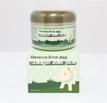 ЕЛЗ Green piggy Маска для лица коллагеновая Collagen Jella Pack  100гр - фото 5996
