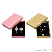Футляр бумажный универсальный, цвет розовый, золотистый (12Х17)