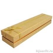 Футляр бумажный под  браслет, цвет золотистый (22х5)