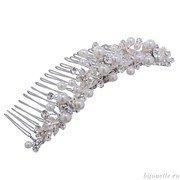 Гребень для волос свадебный центральный с кристаллами Сваровски
