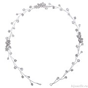 Свадебное украшение для волос на проволоке с кристаллами Сваровски