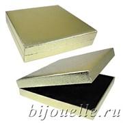 Подарочный футляр квадрат под комплект универсальный, цвет золото (17х17)